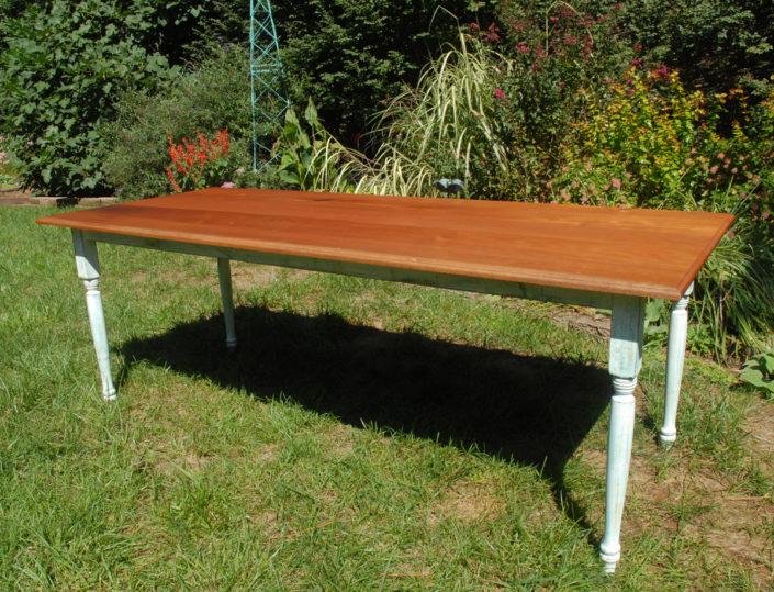 mahogany farm table