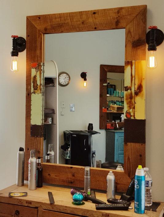 hair salon mirror