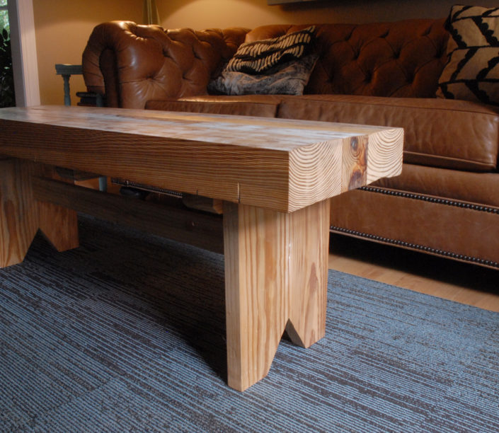 rustic bench/table